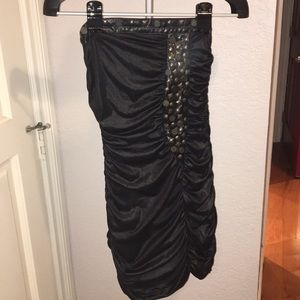 Sexy Black studded mini dress